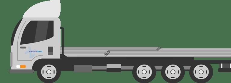 camion con la estructura