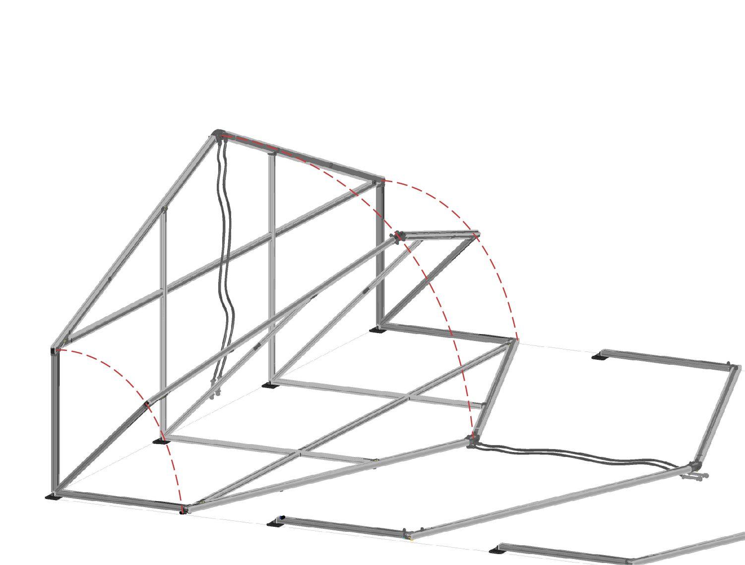 elevacion del primer portico de la carpa