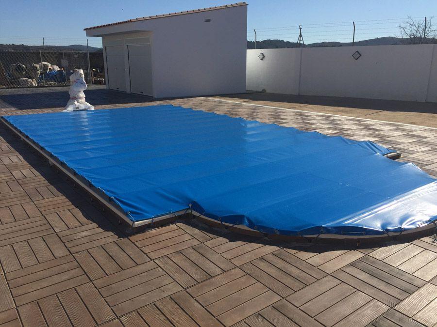 Lonas para piscinas tipos y sistemas blog de carpas y eventos terra - Parches para piscinas de lona ...