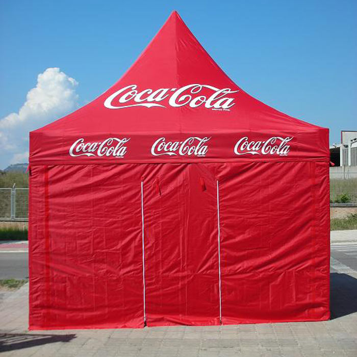 carpa plegable cocacola